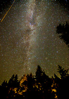 Milky Way and Perseid meteor